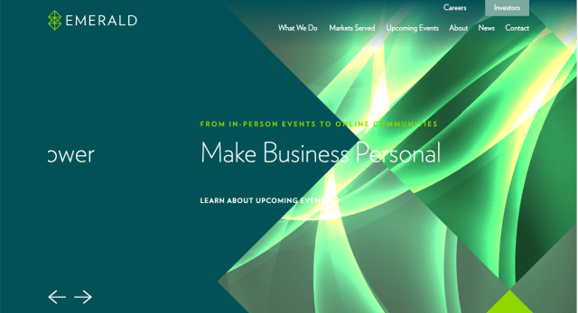 Emerald launches new brand identity and corporate website