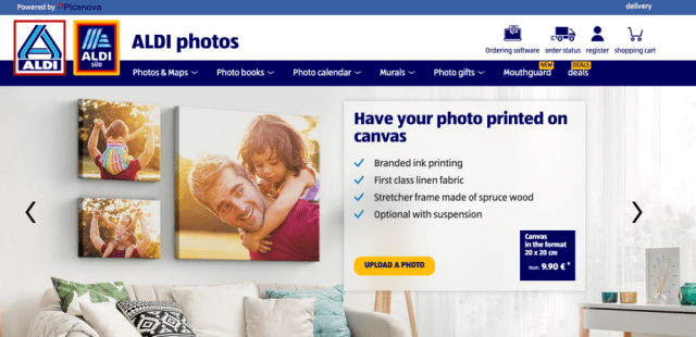 German grocery giant Aldi launches personalized photo site with Picanova