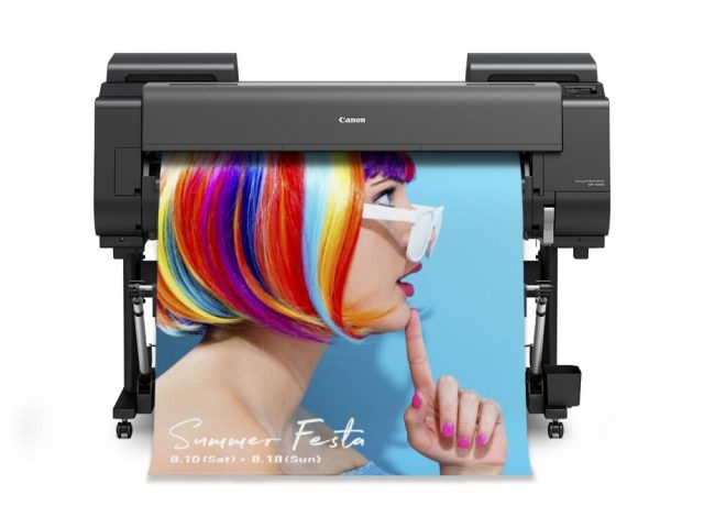 Canon USA debuts aqueous large-format inkjet printer with pink ink