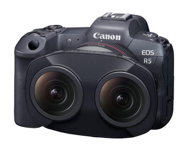 Canon dual fisheye lens for stereoscopic 3D 180° VR 8K capture