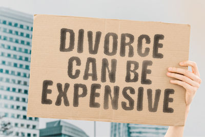 Divorce can be expensive.