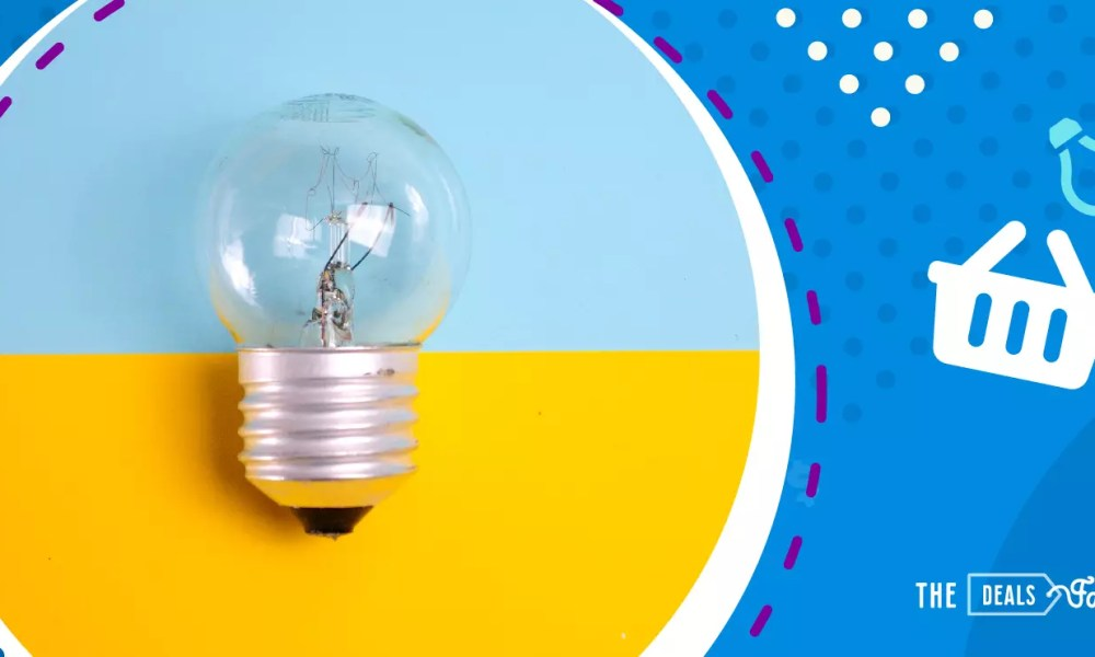 the best ways to save on electric bills: a lamp bulb with our logo
