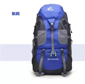 zaino da campeggio aliexpress 50l blu