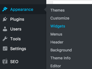 Adding WordPress widget