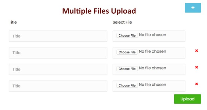 Multiple Files Upload Using PHP