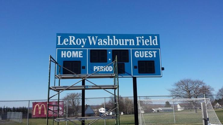 LeRoy Washburn Field Scoreboard Decals
