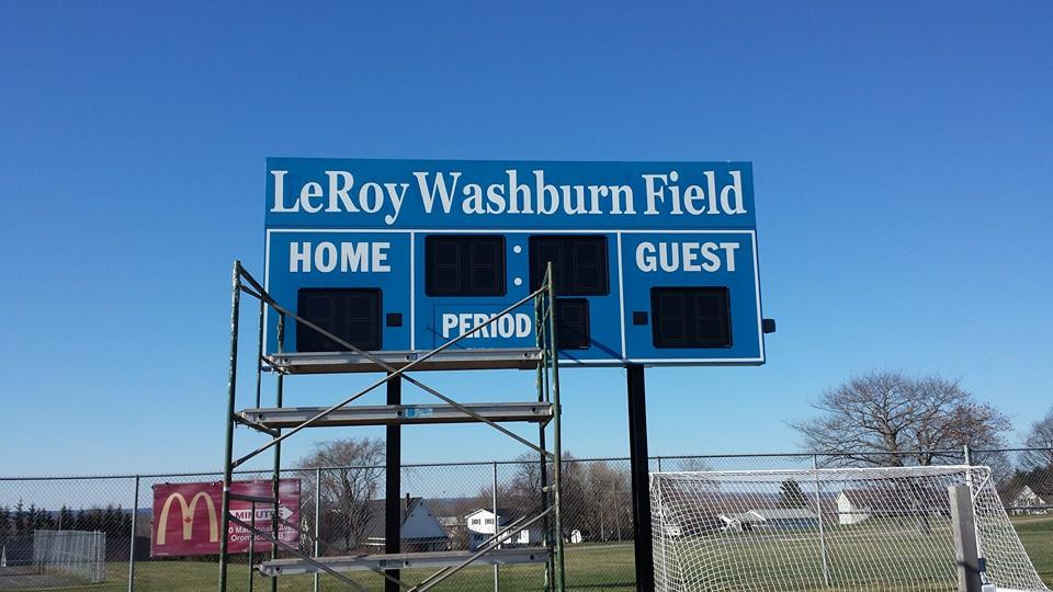 LeRoy Washburn Field Scoreboard Decals