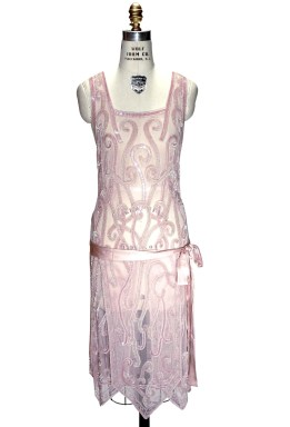 1920's Pink Handkerchief Dress