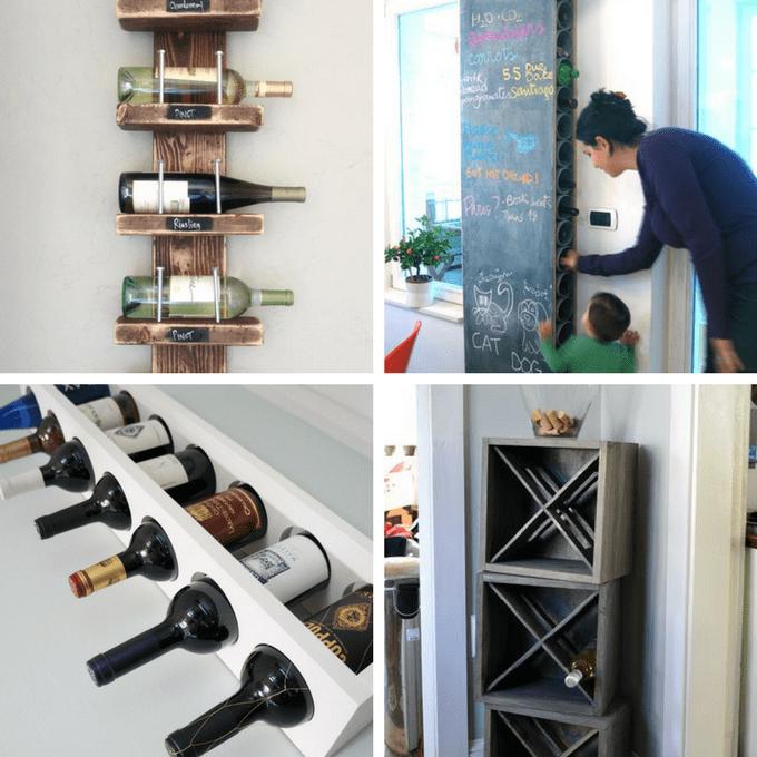 roundup of 24 awesome diy wine racks
