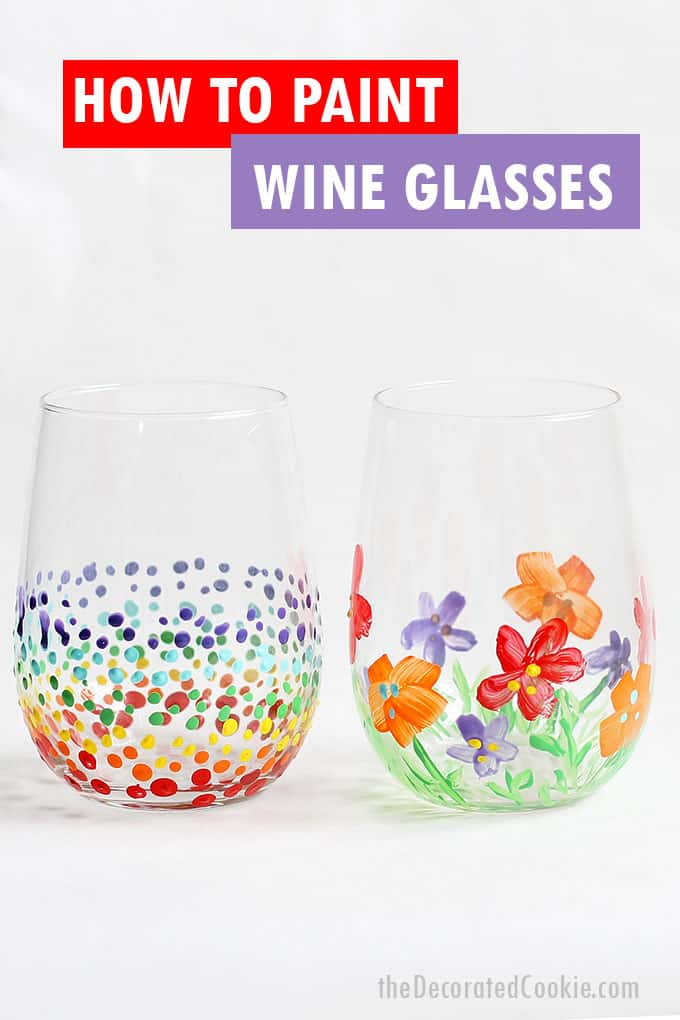 wine glass painting and a roundup of