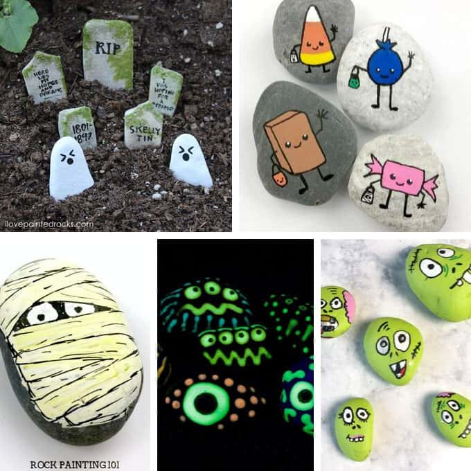 Festive makeup is always fun, and 'tis the season to be extra. 15 Halloween Painted Rocks Fun Holiday Craft Ideas