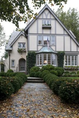 Light Exterior Tudor House