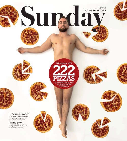 Sunday magazine cover: the pizza diet