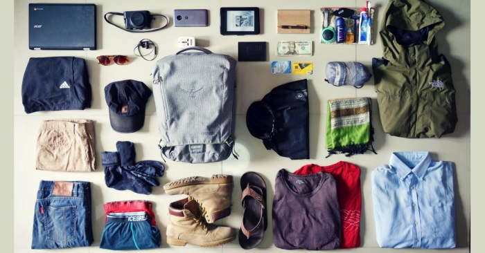 minimalist travel packing list 10 countries one 7kg bag