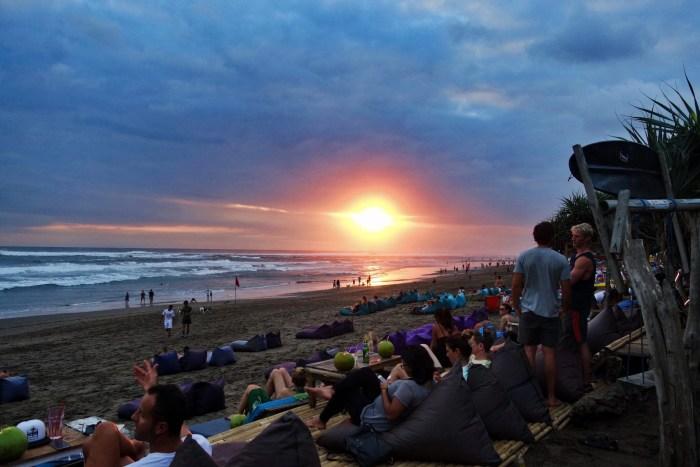 Bali on the cheap sunset