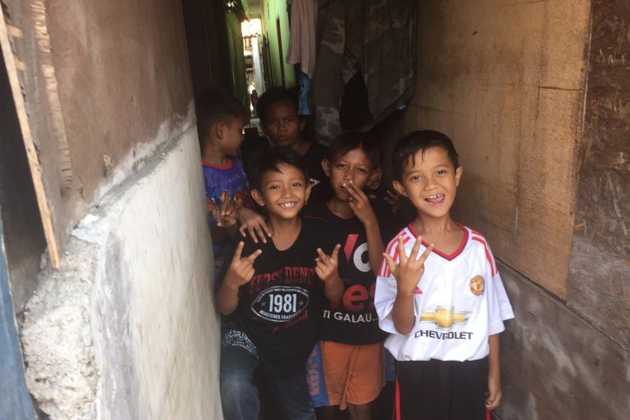 Local kids in Jakarta, Indonesia