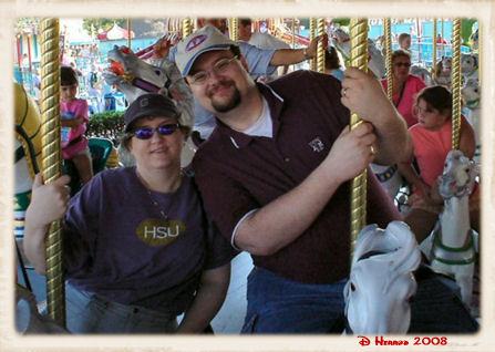 The Big Guy & I on the Carosuel in Fantasyland