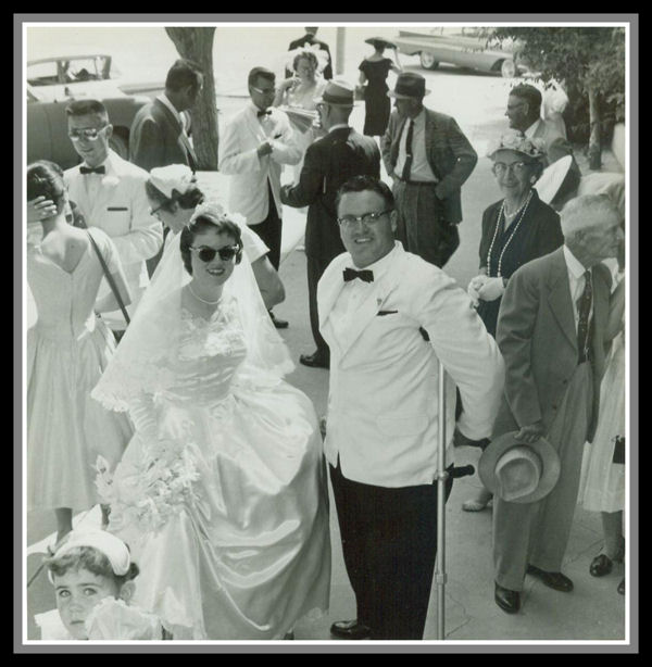Mom & Dad Wedding Picture 31 May 1959