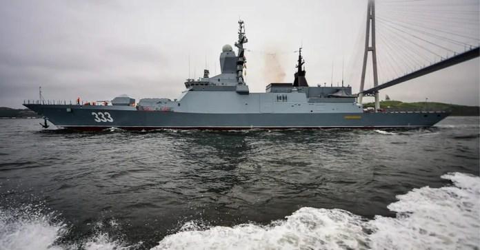 Russian corvette Sovershenny