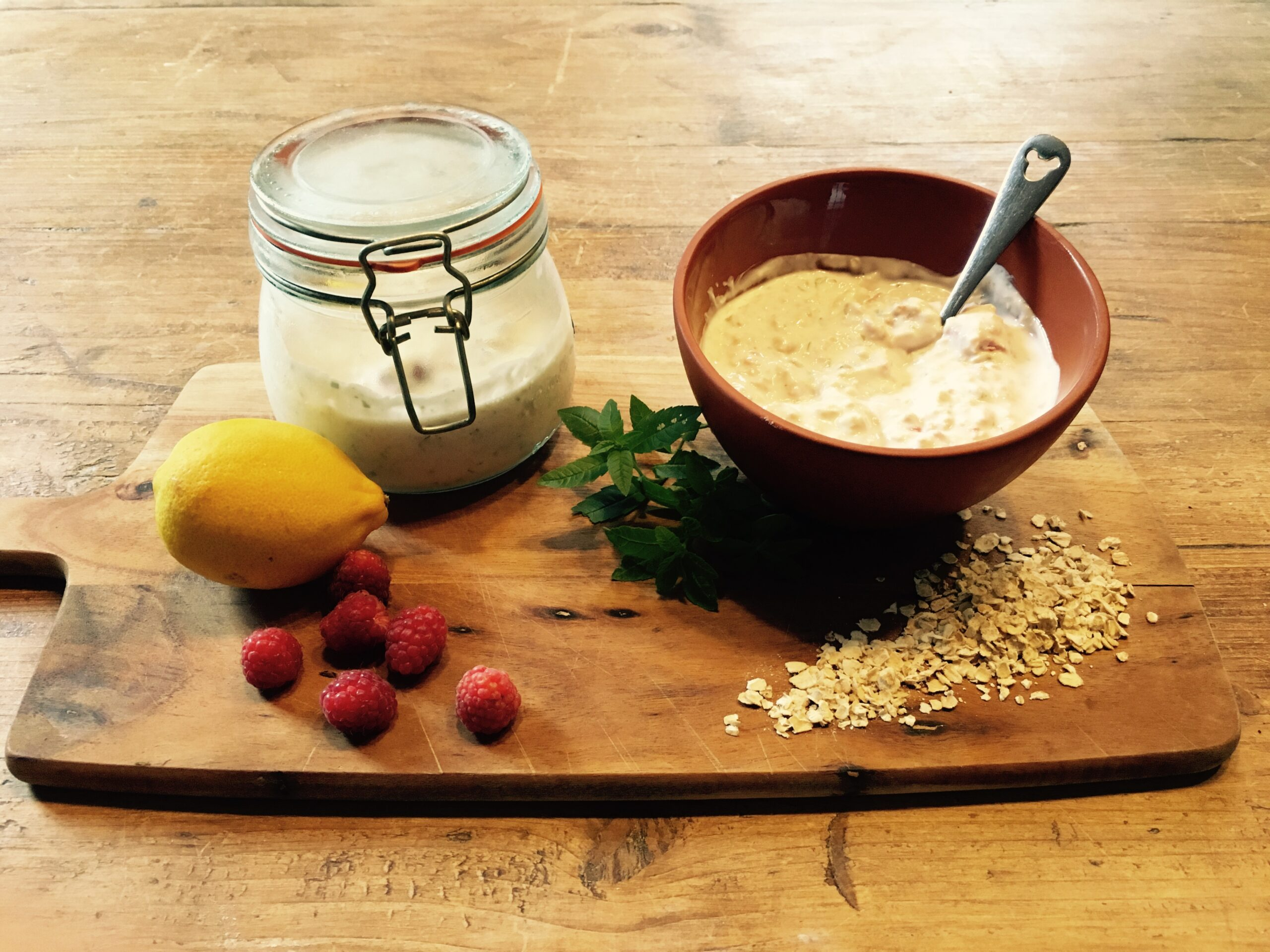 Creamy Lemon and Herb Overnight Oats