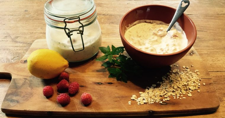 Creamy Lemon and Herb Overnight Oats