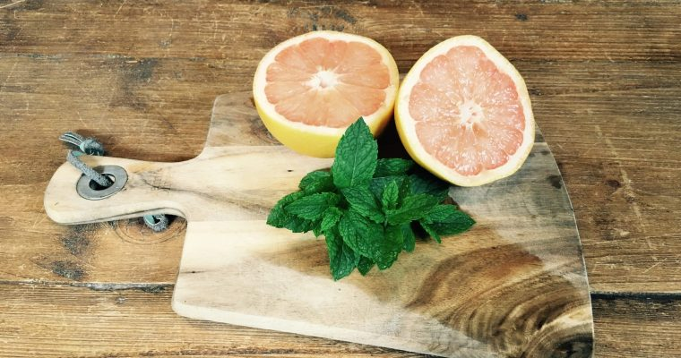 Pink Grapefruit and Garden Mint Water
