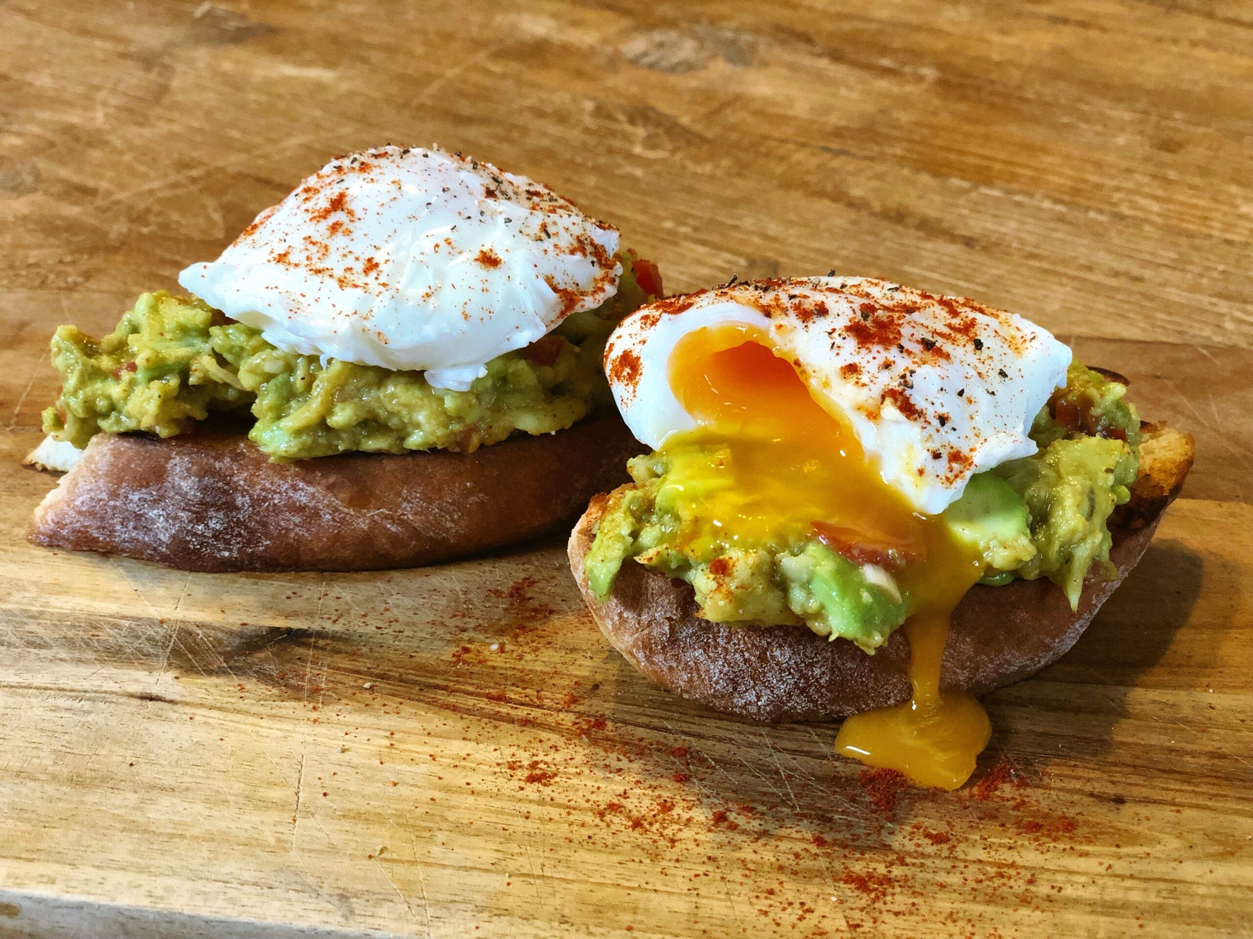 Smashed Avocado with Poached Eggs