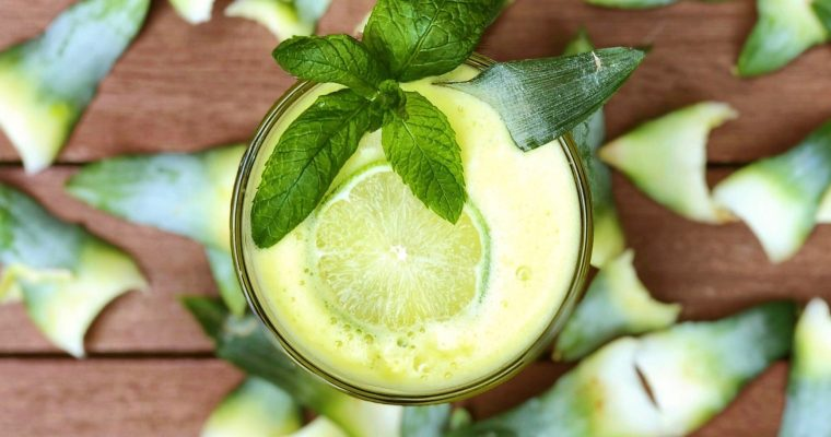Refreshing Mint, Lime and Pineapple Agua Fresca