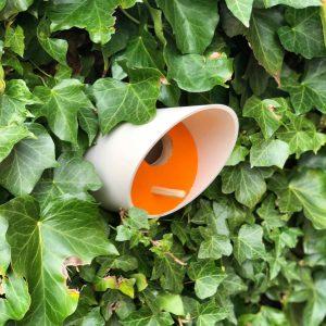 Orange Scandinavian Style Birdhouse