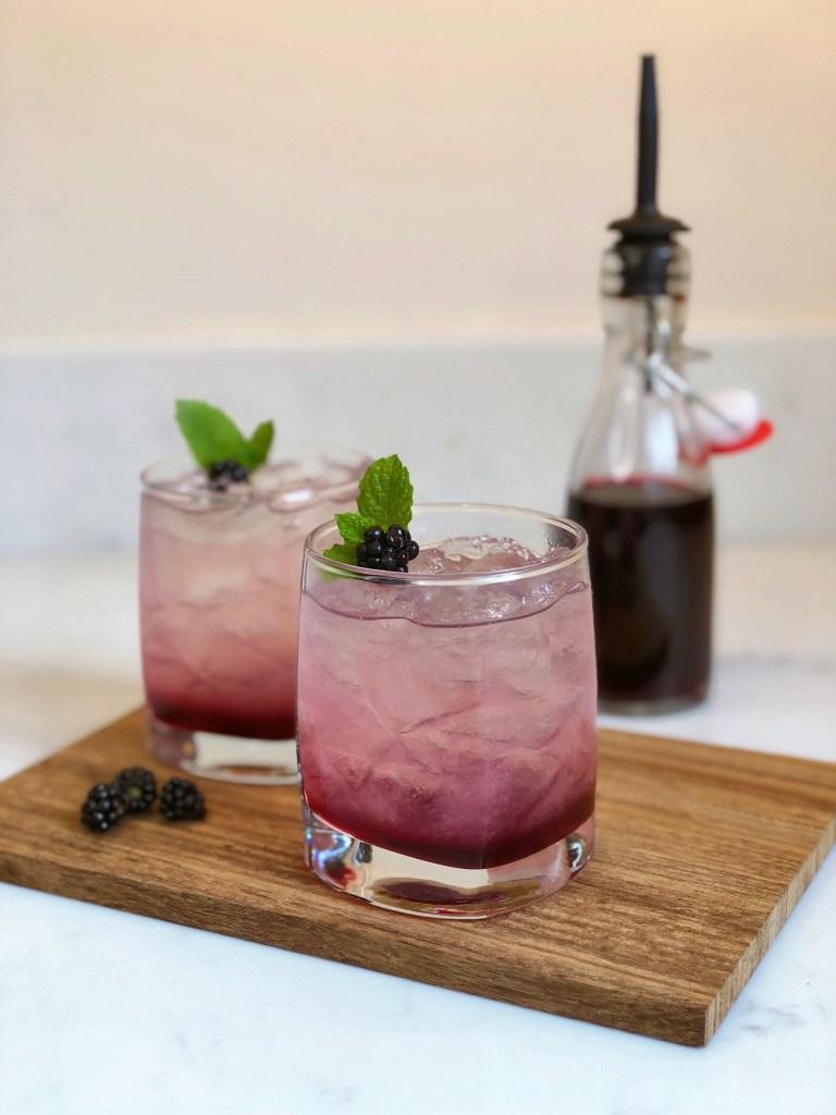 Classic Gin Bramble Cocktail