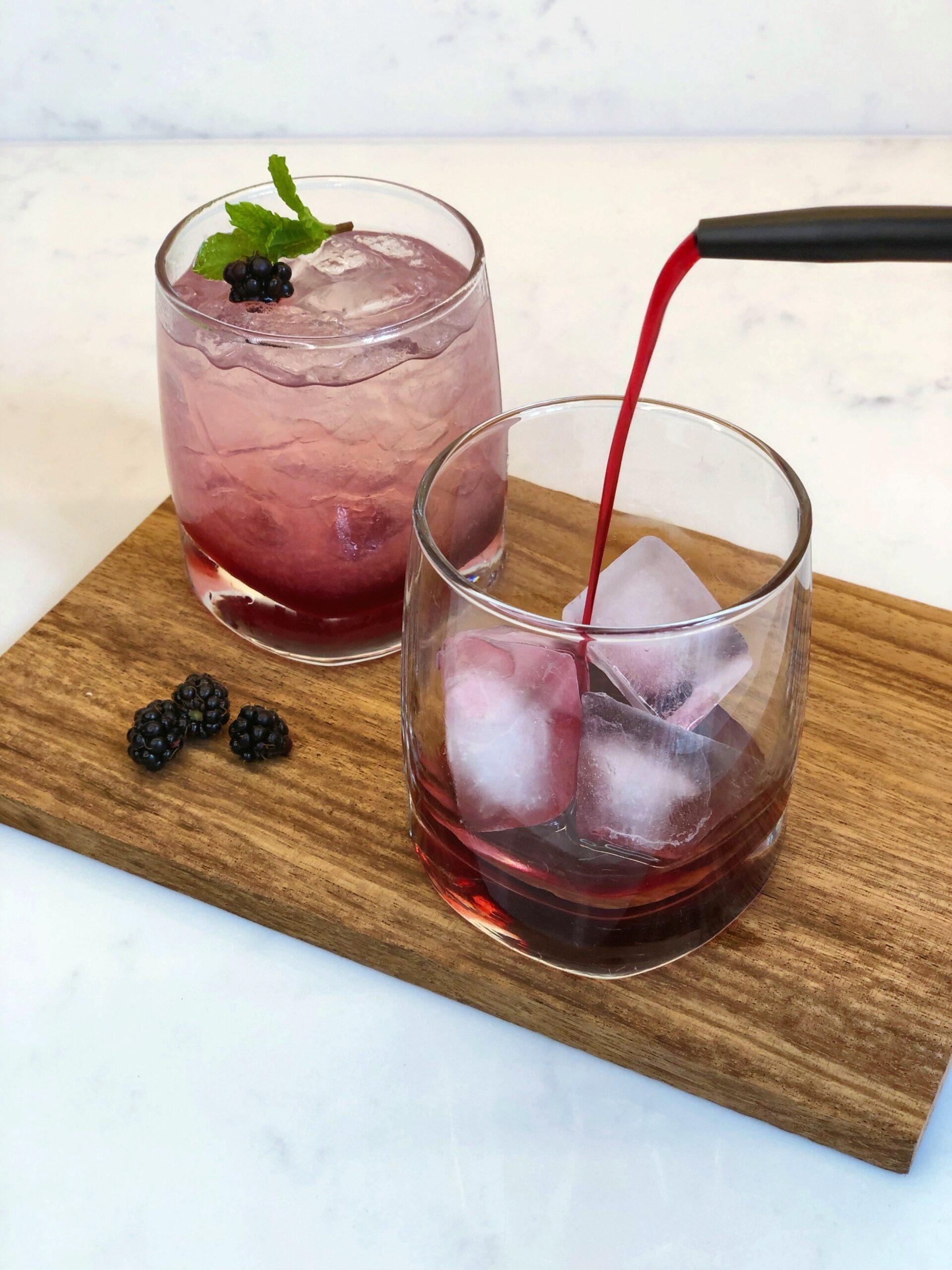 Homemade Creme De Mure Blackberry Liqueur