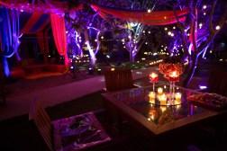Elements sangeet decor table lighting Sahiba wedding Photo Tantra