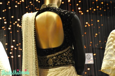 Back design on the blouse was equally delightful