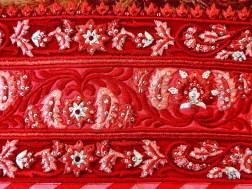 Reception lehenga embroidery details