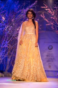 Yellow anarkali fit for an Engagement