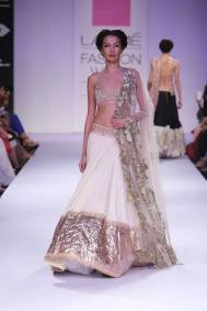 Anushree Reddy white lehenga