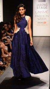 Ridhi Mehra long gown deep blue front