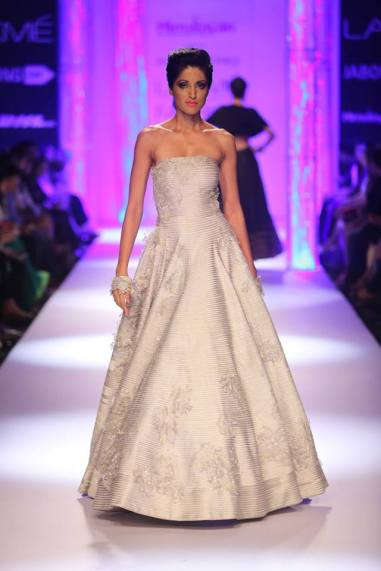 Shantanu & Nikhil silver grey gown