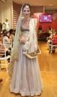 Anju Modi new collection sneak peek at Vogue Bridal Studio for Vogue Wedding Show 2015 blush pink lehenga