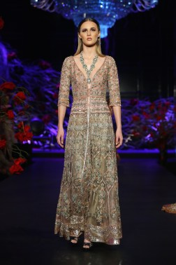 Heavily embroidered long sheer jacket with Pants - Manish Malhotra - Amazon India Couture Week 2015