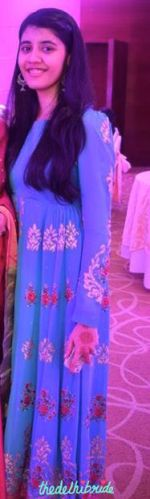 Fabric from Heritage stitched into an anarkali