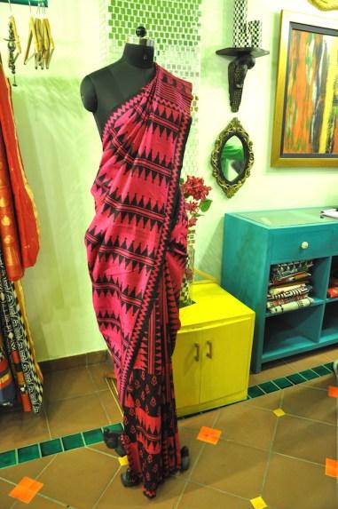 Anuradha Ramam - Pink digital print silk sari - Meherchand market wedding shopping guide