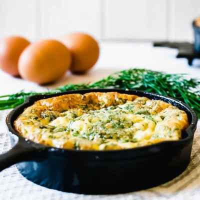 Baked Frittata Recipe – Feta, Dill & Spinach