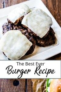 Pinterest Image - pile of cheeseburgers