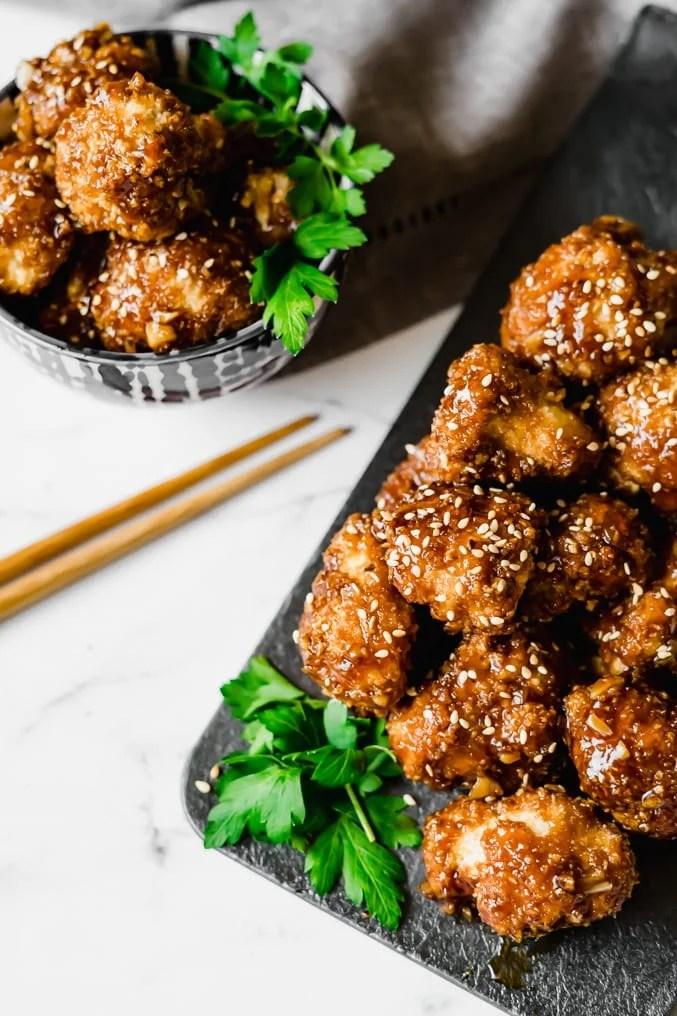 Air-Fryer Asian BBQ Cauliflower Wings