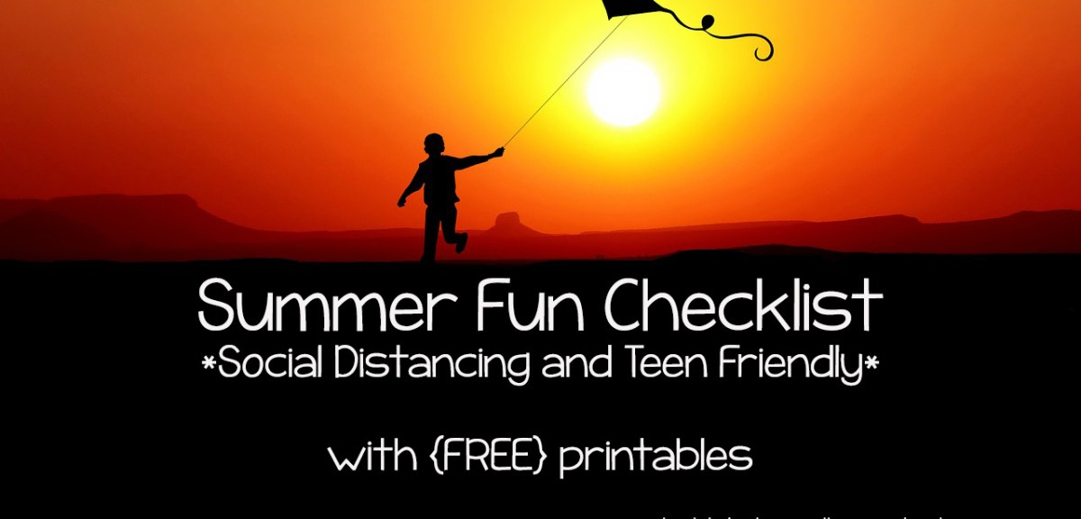 {FREEBIE FRIDAY} Summer Fun Checklists for Families and Teens