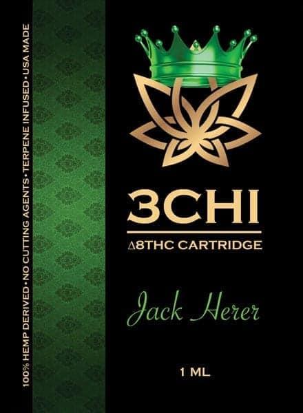 3Chi Vape Cart Insert Delta 8 Jack Herer 1ml