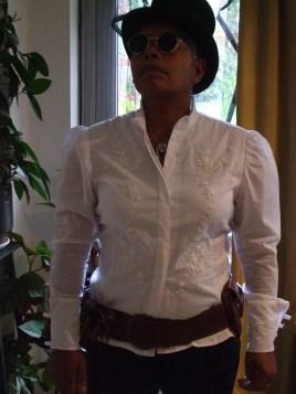 Franken-shirt, sleeves Simplicity 5607, body..er..something else