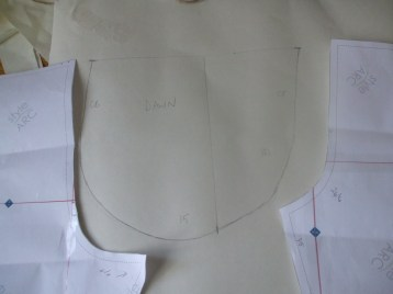 Compared to the Sammi pattern pieces