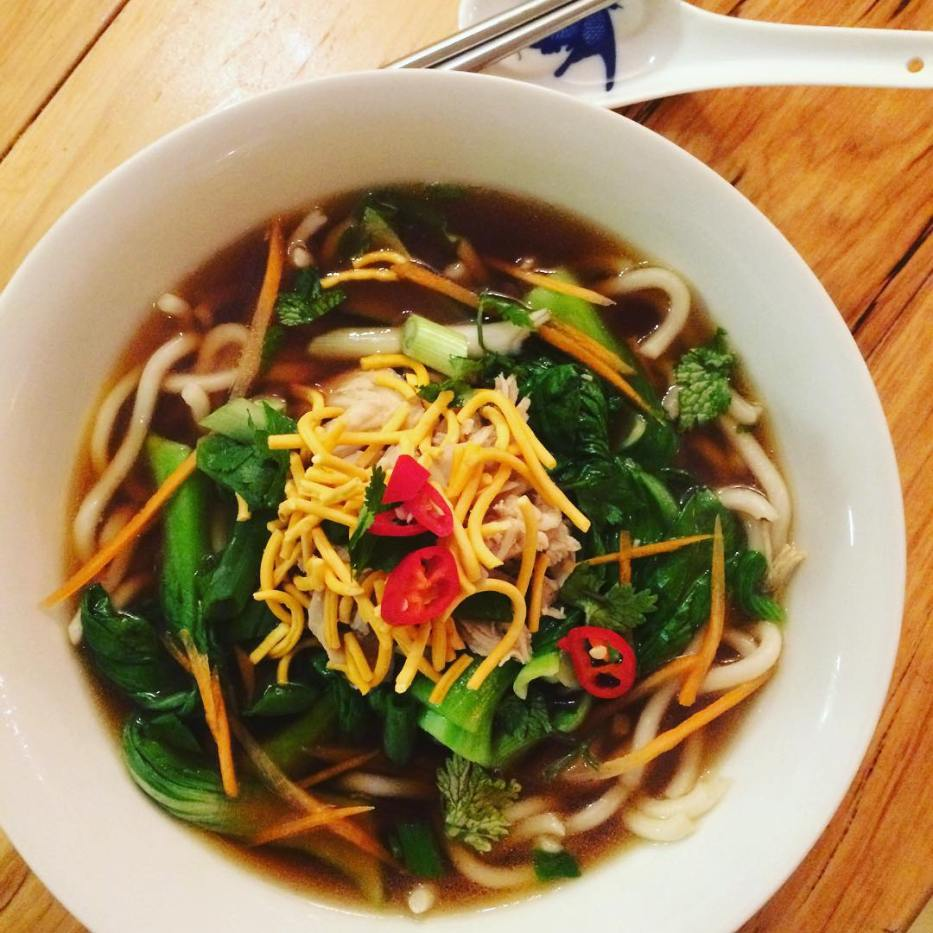Marni Wolf killed it with an awesome bowl of udon noodles.